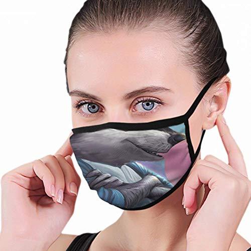 Mondhoes, wasbeer kauwgom 2D Illustratie mondhoes, winddichte mondmaskers voor hardlopen fietsen buiten