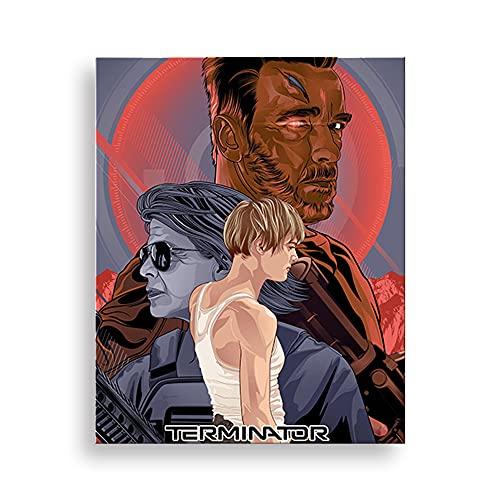 5D DIY Diamond Painting Terminator: Dark Fate 30 * 40cm Bordado de cristal punto de cruz rhinestone mosaico dibujo arte artesanía decoración de la pared del hogar cartel de película