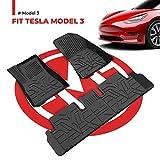 BougeRV Tapis de Sol pour Tesla Model 3 Imperméable À Toute Epreuve Tous Les Temps Plus Grande Couverture TPE Matériel Inodore pour Model 3 2017 2018 2019 2020