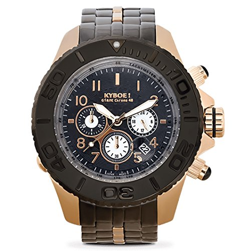 Kyboe Unisex Reloj de Pulsera analógico Cuarzo One Size, Color Negro, Plateado