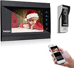 TMEZON 1080P IP wifi 7 inch intercom video deurbel, 4-draads deurbel, nachtzicht, ontgrendelen op afstand op mobiele APP T...