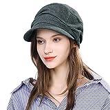 Comhats Sombrero de Verano para Mujer Gorra de Pico Boina con Visera Sombrero de Mujer Gris M