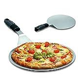 Pala Pizza-KILIGS Pala para Pizza de acero inoxidable, Herramientas para hornear Pizza Stone Oven & Grill