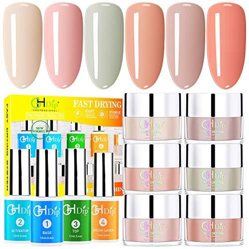 Dip Powder Nail Kit Acrylic Nail Dip Powder Kit G643 (6 nude color)