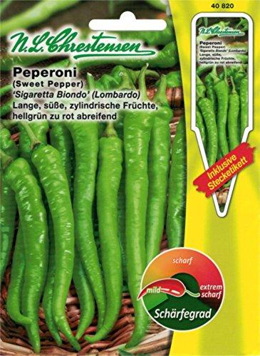 Chrestensen Peperoni 'Sigaretta Biondo - Lombardo' Saatgut Samen