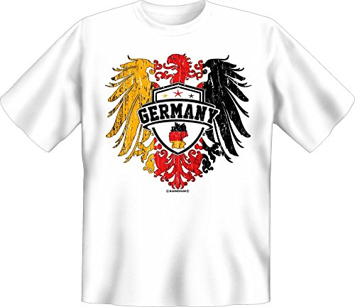 Germany - Adler Deutschland - Fun T-Shirt 100{74a95eb7ce91c44326a137609409744ec2cf205a24711e94ab5d3a0864490f96} Baumwolle - Größe L
