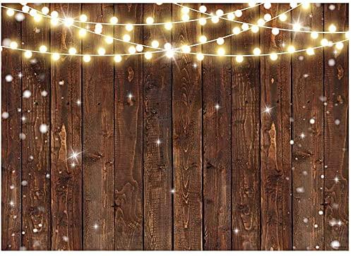 Allenjoy 7 x 5 pies rústico brillo marrón fotografía fondo boda fiesta banner bebé cumpleaños nupcial ducha fondo foto cabina estudio suministros
