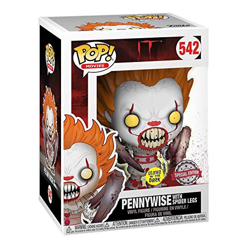 MMmedia Stephen Kings ES Figura Pennywise Spider Legs Glow in The Dark Funko Pop No.542 Vinilo 13cm