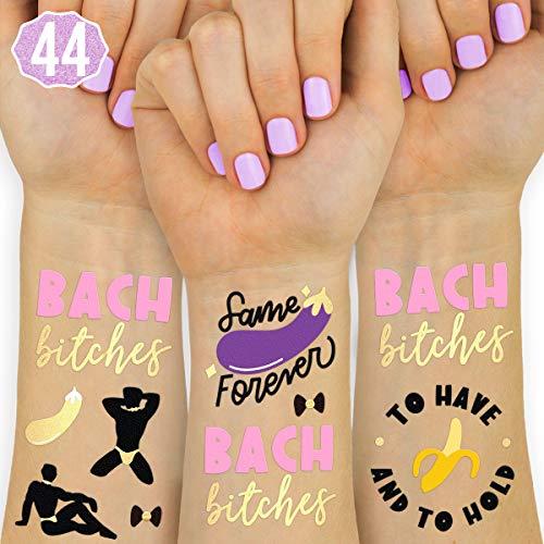 xo, Fetti Bachelorette Tattoos - 40 Glitter Styles   Bachelorette Party Decoration, Bridesmaid Favor, Bride to Be Gift + Bridal Shower Supplies