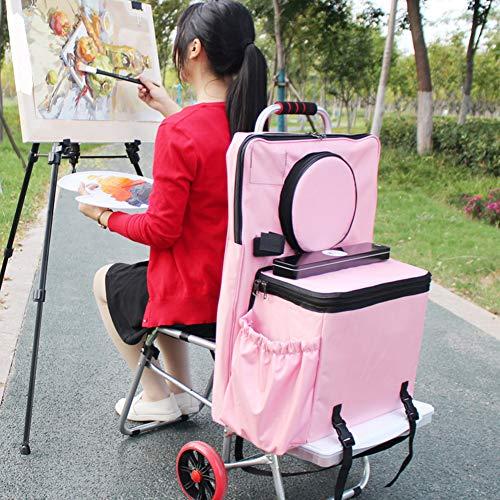 YXZN Zeichenbrett Klappstuhl, Multifunktionale Tragbare Zeichenbrett Klappstuhl Sketch Bag Malerei Trolley Art Supplies Trolley