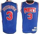 TGSCX Jersey de Baloncesto para Hombre NBA Brooklyn Nets 3# Drazen Petrovic Camisetas Transpirable Deportes y Ropa de Ocio Regalos para los fanáticos,XL
