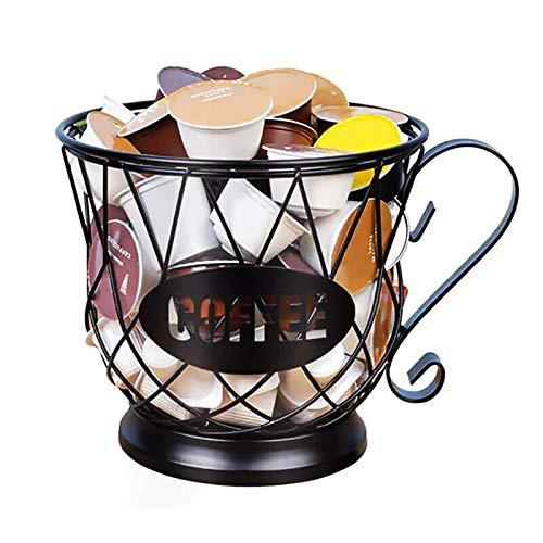 TANGX Porta Cialde, Porta Organizer per caffè da Banco e Organizer per caffè con Grande capacità, Cestello per Capsule caffè, Cesto Porta Tazze per Frutta e Snack