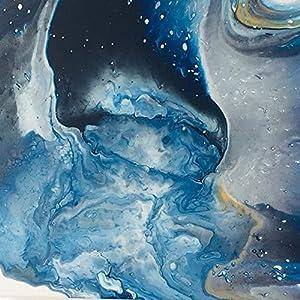 30 x 30 x 3,5 cm I Acryl Pouring I original handgemaltes Unikat I blau, silber, gold, weiß I Leinwand auf Keilrahmen I…