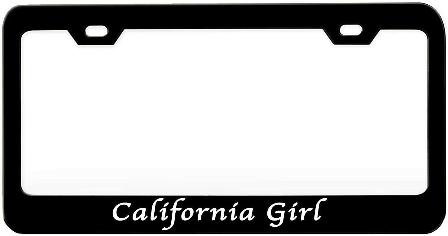 California Girl Girly Black Steel Frame Max 75% OFF Metal Plate Popular products Auto License