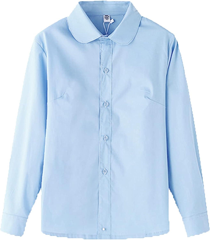 Chlidren Kids Baby Max 67% OFF Girls Boys Baltimore Mall Button White Shirts Tops Fo Blouse