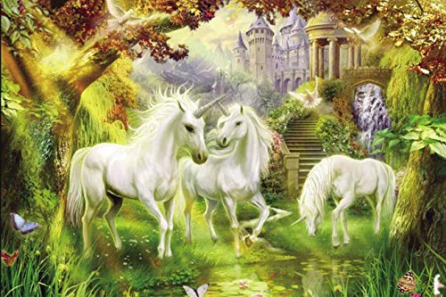cjc Jigsaw Puzzles For Adults Kids 1000 Pieces Home Interactive Game Toys Family Floor Puzzles Educational (Color : White horse)