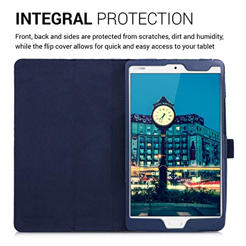 kwmobile Huawei MediaPad M3 8.4 Hülle - Tablet Cover Case Schutzhülle für Huawei MediaPad M3 8.4 - Dunkelblau mit Ständer - 4