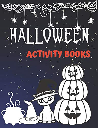 HALLOWEEN ACTIVITY BOOKS: Fun Workbook For word search,to-do-list,mazes and sudokus (140 pages)