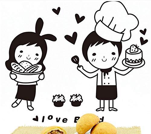 Terilizi Chefs Muursticker Keukenpatroon Japanse snoepjes Voedsel Sticker voor Cafe Keuken Decoratie Huishoudelijke muursticker