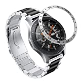 YaYuu Gear S3 Frontier/Classic Correa de Reloj Samsung Galaxy Watch 46mm Banda Pulseras de Repuesto+Watch Anillo de Bisel, 22mm Acero Inoxidable Metal Correas Pulsera para Samsung Gear S3 Watch
