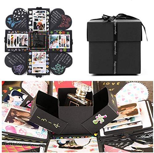 EKKONG Kreative Überraschung Box Explosions-Box DIY Faltendes Fotoalbum,Geburtstag Jahrestag Valentine Hochzeit Geschenk, für Hochzeit, Muttertag, DIY Geschenk