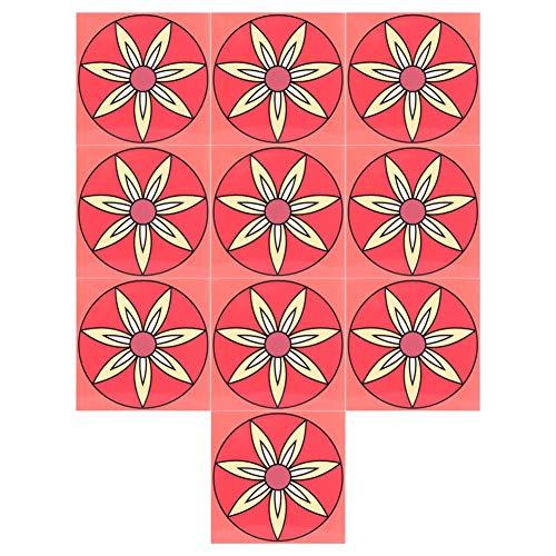 Komopesu 20 pegatinas de pared antideslizantes impermeables para suelos de pared de cerámica para decoración del hogar, 20 x 20 cm