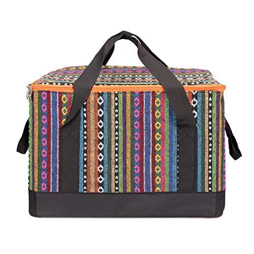 SKK Picknick Basket - Bolsa térmica de picnic de 28 l con aislamiento grande y portátil, bolsa de almuerzo para exteriores, playa, viajes, picnic, bolsa de picnic