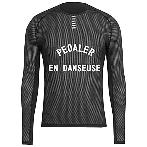 Maillot Ciclismo Malla Transpirable Capa Base de Ciclismo para Hombre Ligero de Secado rápido Camiseta de Bicicleta Ropa Interior de Ciclismo de Manga Larga (Color : Pic Color, Size : M)