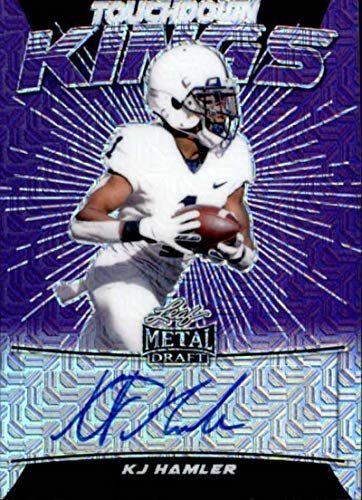 2020 Leaf Metal Draft Touchdown Kings Mojo Purple Autograph #TK-KH2 KJ Hamler RC Rookie AUTO 10/10 Football Trading Card