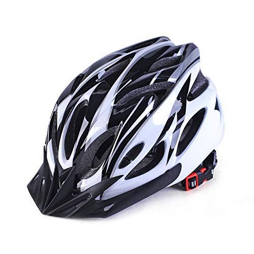 SFBBBO Casco Bicicleta Casco de Bicicleta de Carretera Ultraligero para Bicicleta de montaña para Hombres y Mujeres, Casco de Seguridad para Ciclismo, Negro, Blanco