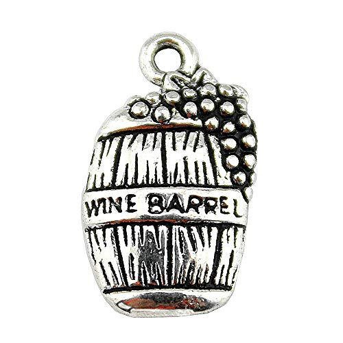 NEWME 60pcs wine barrel Charms Pendant For DIY Jewelry Wholesale Crafting Bracelet and Necklace Making