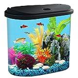 Koller Products AquaView - Tanque de pesca (4,5 galones), filtro de energía - Iluminación LED