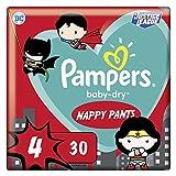 Pampers Baby-Dry Pants 4, 30 bragas de pañales, fáciles de poner y quitar, fiable, 9 kg a 15 kg