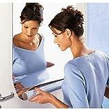 Adhesivo decorativo autoadhesivo para muebles, cuadrado, de alta calidad, con lámina de espejo, pegatinas de pared, pasta de espejo extraíble, decoración del hogar, color blanco, Federación de Rusia