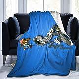 Gypsophila Tom und Jerry Katzen- und Maus-Decke, superweich, warm, flauschig, pflegeleicht, für alle Jahreszeiten, mehrfarbig, Größe: 127 x 102 cm