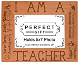 ThisWear Teacher Appreciation Gift I am a Teacher Poem Natural Wood Engraved 5x7 Landscape Picture Frame Wood