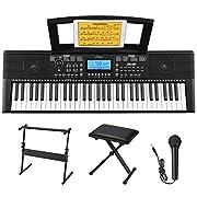 #LightningDeal Donner DEK-610 61 Keys Electronic Keyboard Portable Electric Music Piano with Full-Size Keys for Beginners