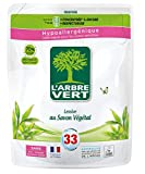 L'ARBRE VERT L'arbre vert - recharge lessive 1.5l savon vegetale - 33 lavages - Le bidon de 1,5l