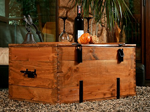 Holzkiste Holztruhe Couchtisch Kaffeetisch, shabby chic, Tisch, Truhe, Kiste Länge: 80 cm Höhe: 45 cm Tiefe: 50 cm - 8