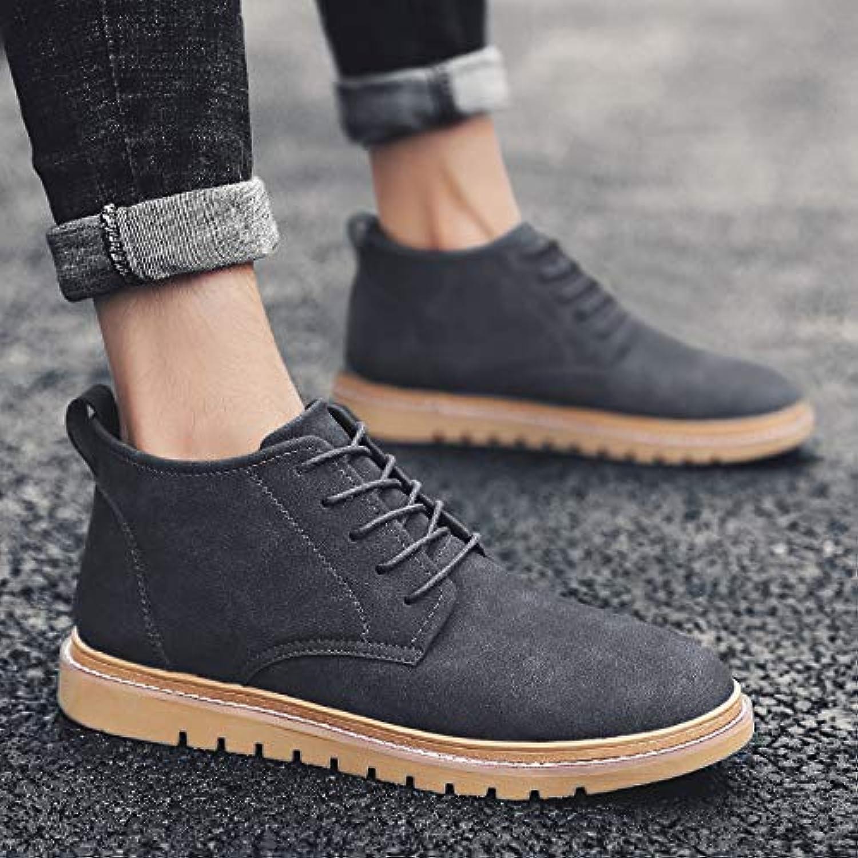 Shukun Men's boots Men'S shoes Autumn shoes Martin Boots Men'S High shoes Versatile In The Boots Men'S Boots Tooling Boots