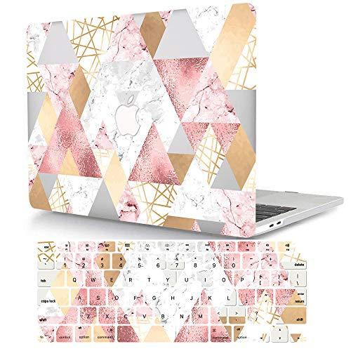 Bandless ACJYX Compatible con 2015 2014 2013 2012 MacBook Pro 15 Pulgadas Funda A1398, Plástico Dura Case Carcasa Cubierta con Tapa del Teclado para MacBook Pro 15 Retina - Geometría Colorida