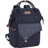 KROSER Laptop Backpack 15.6 Inch Stylish School Computer Backpack with USB Charging Port Water-repellent College Daypack Travel Business Work Bag for Women/Men-Dark Blue