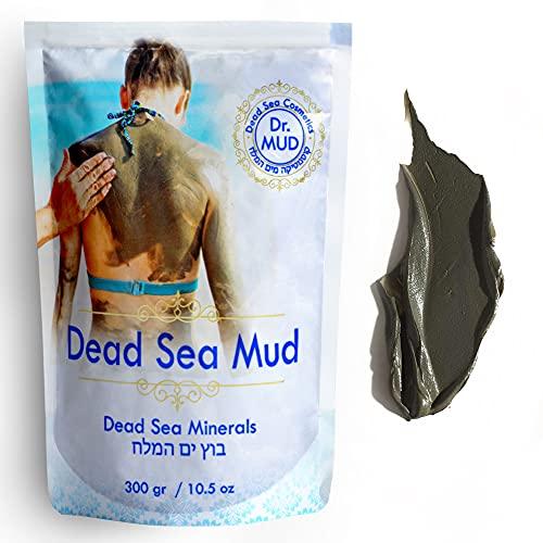 Dr Mud's Dead Sea Mud Mask body from Israel 10.5 oz – Black Clay Body Treatment