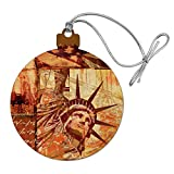 GRAPHICS & MORE New York City Statue Liberty Tile Collage Wood Christmas Tree Holiday Ornament