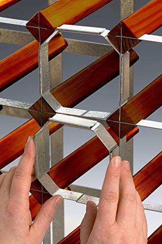 RTA 5 Steel Clip Wine Rack Joining System - Galvanised Steel