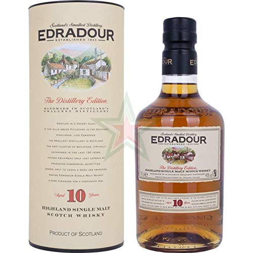 Edradour 10 Years Old 40,00% 0,70 lt.