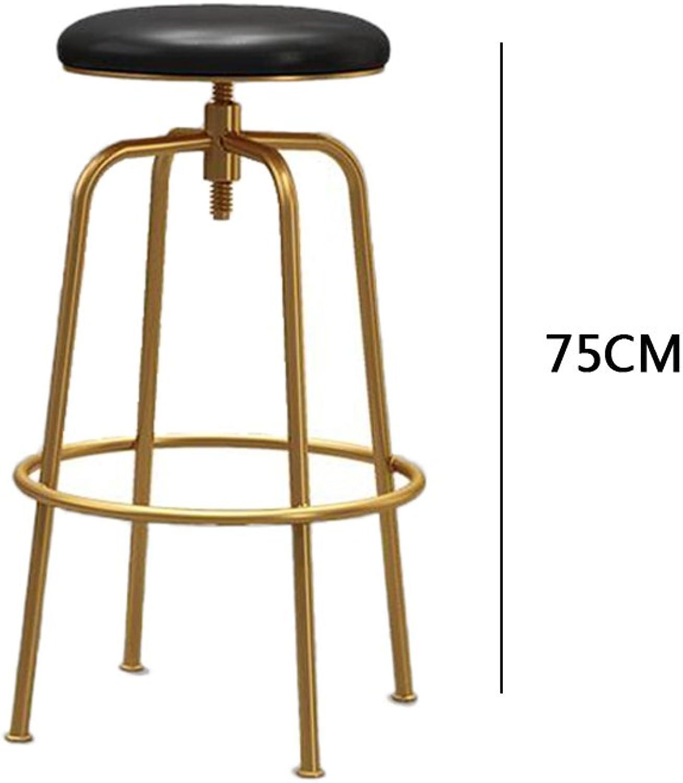 DQMS Bar Chair, golden Bar Chair, Bar Stool, Front Desk Chair, Leisure Lift Chair (color   C)