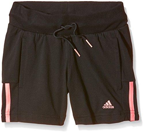 adidas YG ESS M Short - Pantalón Corto para niñas, Color Negro/Naranja,...