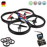 4.5 RC Quadcopter Drone 3D avec 5.8GHz Live Caméra Moniteur, de 6 Axis Gyro, fonction automatique arrière holf, Headless, Kit complet