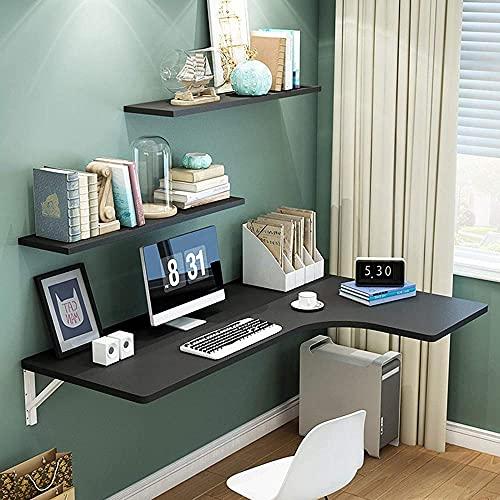 Mesa plegable de esquina para pared para el hogar, mesa de comedor, mesa de estudio, mesa de estudio, mesa de hojas y ahorro de espacio, multicolor, 5 opciones de color: C_110 x 60 x 40 cm